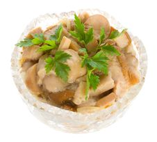 Free Pickled Mushrooms In Bowl Stock Photo - 8498950