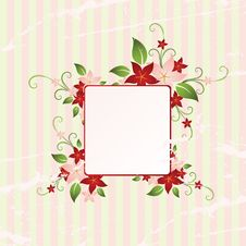Free Floral Frame Royalty Free Stock Image - 8499226