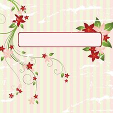 Free Floral Frame Royalty Free Stock Photos - 8499228