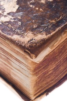 Free Close Up Of Very Old Book Stock Images - 8499304