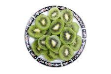 Free Sliced Kiwi On Plate. Stock Image - 8499831