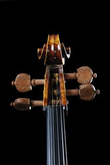 Neck Cello On A Black Background Royalty Free Stock Photo