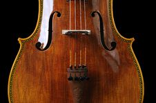 Cello On A Black Background Royalty Free Stock Photo