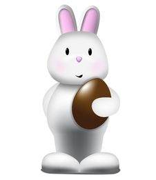 Free Cute Bunny And A Easter Egg Royalty Free Stock Image - 8499976