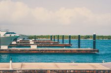 Free Yachts In A Shipyard Dock Stock Image - 84900761