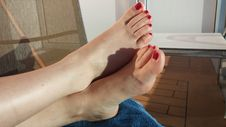 Free Red Polish Toes 6 Stock Photos - 84901023
