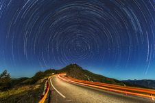Free Time Lapse Of Stars And Street Stock Photos - 84901493