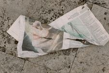 Free Crumpled Newspaper Royalty Free Stock Photography - 84902057