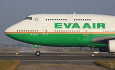 Free Eva Air Airliner On Runway Stock Photos - 84904823