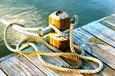 Free Mooring Rope Royalty Free Stock Image - 84906866
