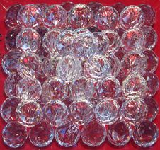 Free Clear Faceted Glass Spheres Royalty Free Stock Image - 84908826