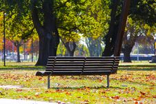 Free Black Wooden Bench On Green Grass Stock Photography - 84908872