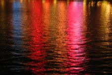 Free Multicolored Night Water Texture, Las Vegas Royalty Free Stock Images - 84909319
