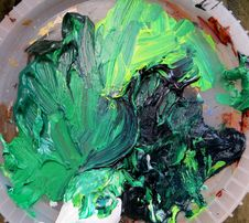 Free Green Paint Smear Royalty Free Stock Image - 84909896