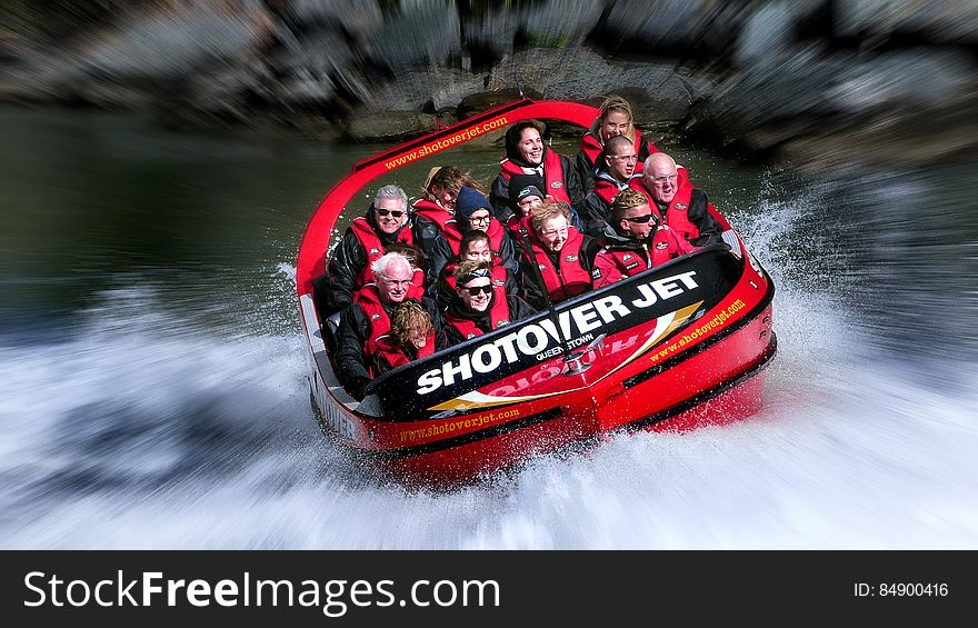 Thrill seekers. Shotover Jet.