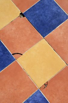 Free Yellow Blue And Orange Ceramic Tiles Stock Photos - 84910043