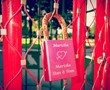 Free PUBLIC DOMAIN DEDICATION - Pixabay - Digionbew 12. 11-07-16 Love Padlock On Love Gate LOW RES DSC05441 Royalty Free Stock Image - 84910166