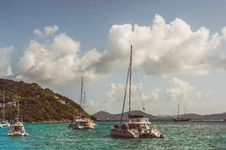 Free White Sailboats In Teal Water At Daytime Stock Photos - 84910223