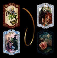 Free Gift-Tags-And-Ribbon Stock Photo - 84910490
