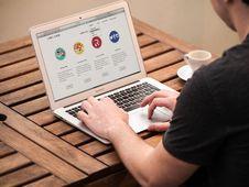 Free Man Working On Laptop Stock Images - 84910674