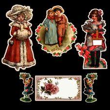Free Vintage-Children-Stickers Stock Photos - 84910703