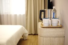 Free Water Kettle On Bedside Table Royalty Free Stock Photography - 84910877