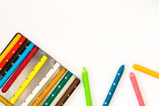 Free Colorful Crayons Royalty Free Stock Image - 84911586