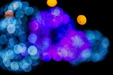 Free Blue And Purple Bokeh Lights Stock Photo - 84912700