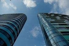 Free Two Adjacent Skyscrapers  Stock Image - 84914061