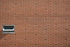 Free White Air Ventilation Window On Brown Concrete Brick Wall Stock Image - 84914791