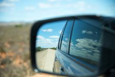 Free View Through Car Mirror Stock Photography - 84917032