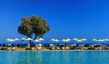 Free Umbrellas On Beach Stock Image - 84917191