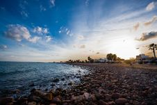 Free Scenic View Of Sea Against Sky During Sunset Stock Image - 84917271