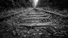 Free Disused Railway Tracks In Countryside Royalty Free Stock Image - 84917786