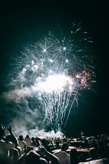 Free Fireworks And Spectators Stock Image - 84918481