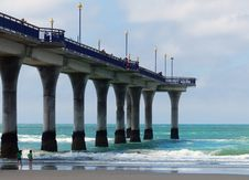 Free Under The Pier. New Brighton. Stock Photography - 84919292