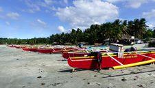Free Colourful Fishermens Boats. Ilocos Norte. Royalty Free Stock Photo - 84920575