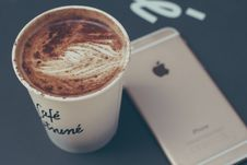 Free Coffee And IPhone Stock Image - 84920631