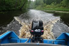 Free Outboard Motor On Boat Stock Photos - 84921623