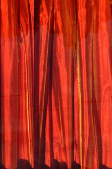 Free Red Curtain Stock Image - 84924481