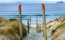 Free Beach Access Ruakaka. NZ Royalty Free Stock Photography - 84924517