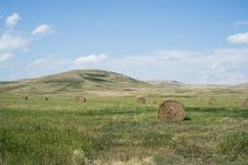 Free Hay Bales In Field Royalty Free Stock Photography - 84927767