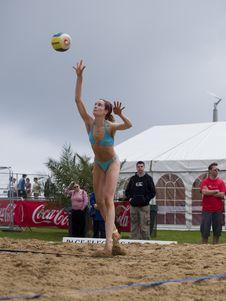 Free Sky, Net Sports, Volleyball Player, Leg Stock Image - 84928041
