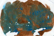 Free Watercolor Splat, Copper And Blue Stock Image - 84928271