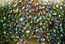 Free Multicolored Faceted Crystals Royalty Free Stock Images - 84929649