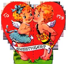 Free Vintage 1930s Valentine Sweetheart Kiss Stock Photos - 84929853