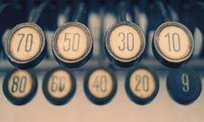 Free Vintage Typewriter Keys Royalty Free Stock Photos - 84930248