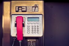Free Pay Phone Closeup Royalty Free Stock Image - 84930296