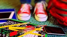 Free Close-up Of Multi Colored Pencils Royalty Free Stock Photo - 84930845