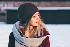 Free Young Woman In Beanie Hat  Stock Photos - 84931453